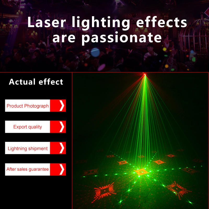 Image 4 - Atotalof RGB LED Disco Light Laser 128 Patterns Projector Remote Control In door Party Lighting KTV Wedding Stage Laser Lights