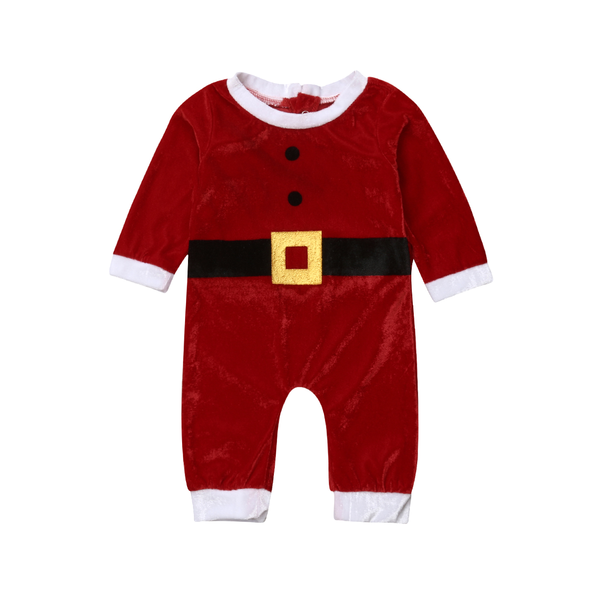 2019 New Baby Clothes One Piece Winter   Romper   Christmas Fit Nightwear New Born Baby Clothes Santa Claus Warm Long Sleeve   Romper