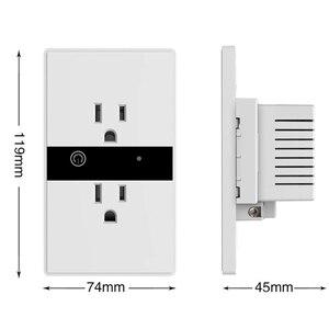 "Image 2 - WiFi חכם חשמלי קיר שקע ארה""ב אלחוטי תקע חנויות מגע לוח בקרת אורות עבודת מכשירי חשמל לבית עם Alexa Google"
