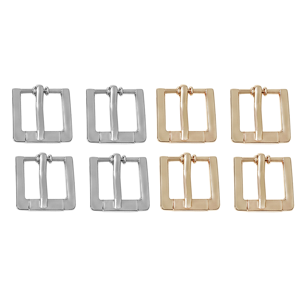 4pcs Replacement Metal Belt Buckle For Leather Belt Handbag Strap