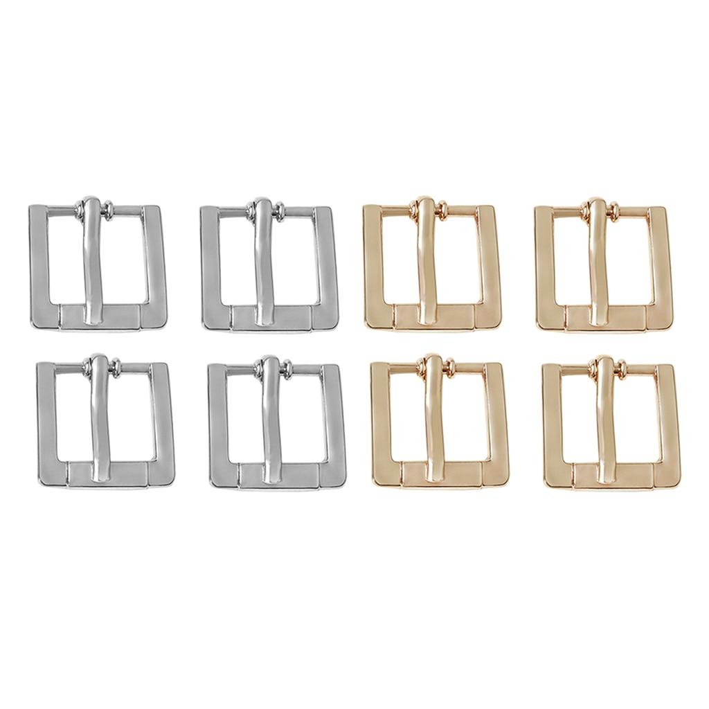 4pcs Replacement Metal Belt Buckle For Leather Belt Handbag Strap