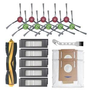 Para ecovacs deebot ozmo t8 varrendo robô aspirador de pó escova lateral principal filtro à prova de vazamento saco poeira