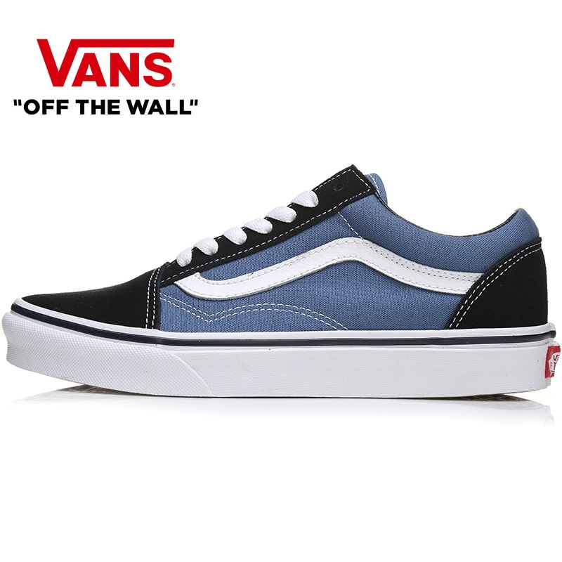 Original Authentic VANS Shoes OLD SKOOL Men And Women Board Skateboard Shoes Navy Blue Casual Lightweight 2019 New  VN000D3HNVY