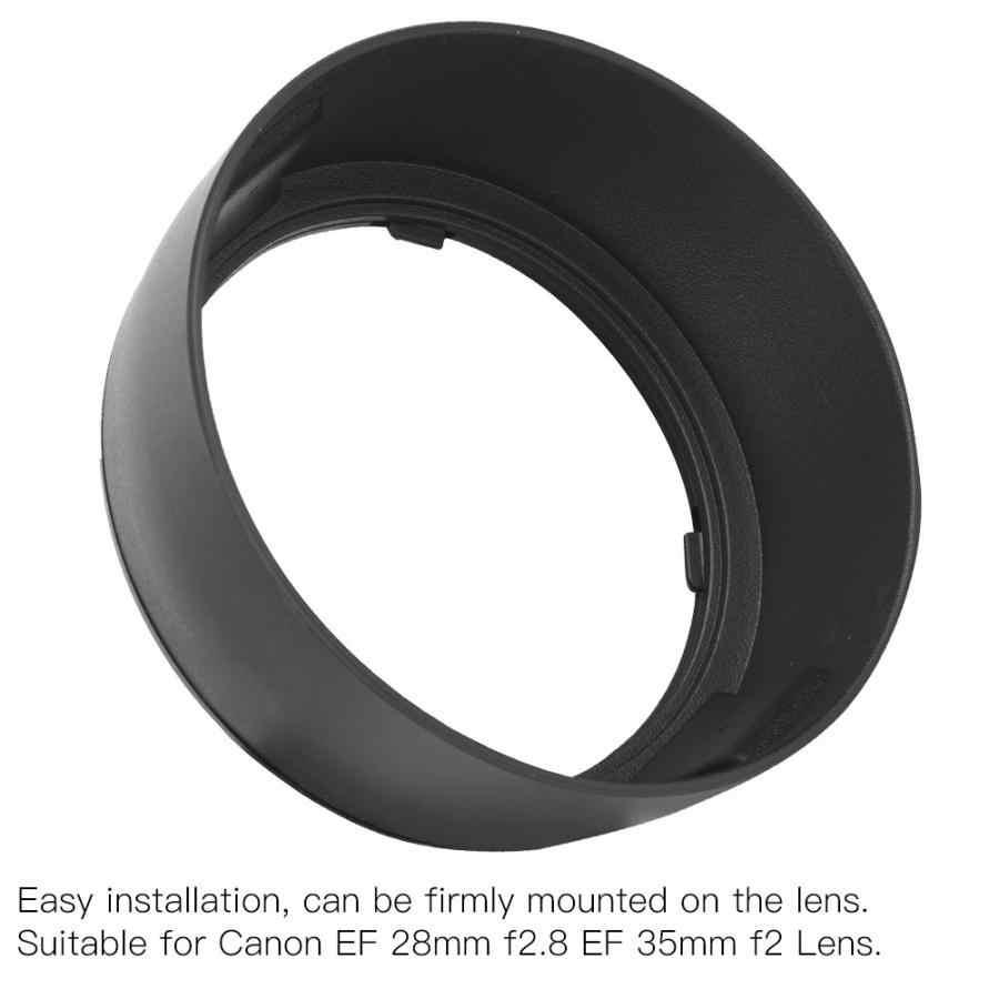Reemplazo de cubierta de lente de montaje ABS EW-65II para Canon EF 28mm f2.8 EF 35mm f2 lente dslr len Hood