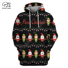 Men Women Merry Christmas Costumes Print 3D Hoodies Funny Santa Claus cosplay Gift Sweatshirt t shirt zipper jacket pullover