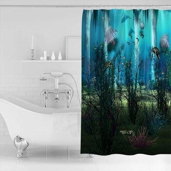 3D Meer Boden Ozean Tier Anlage Bad Dusche Vorhänge Stoff Dusche Vorhänge Bad Zubehör Dusche Vorhang