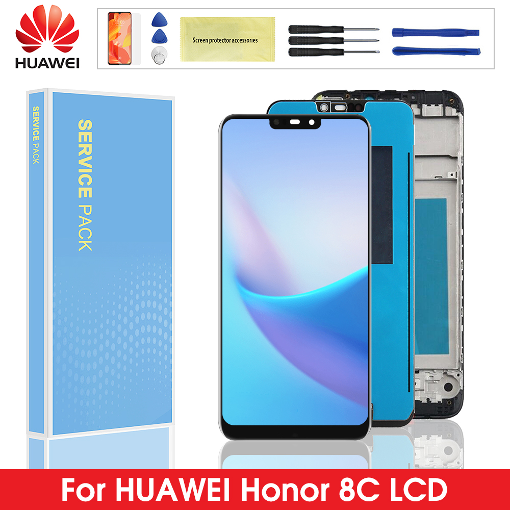 Original LCD <font><b>with</b></font> Frame For Huawei <font><b>Honor</b></font> <font><b>8C</b></font> LCD <font><b>Display</b></font> <font><b>Touch</b></font> <font><b>Screen</b></font> Digitizer Assembly For <font><b>Honor</b></font> Paly <font><b>8C</b></font> BKK-AL10 BKK-L21 image