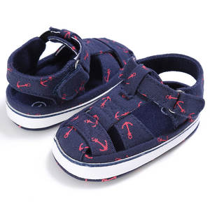 2019 Baby Shoes For Newborn Print Anchor Pattern Infant Toddler Soft Sole Shoes Canvas