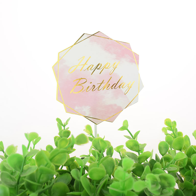 Cake Toppers Butterfly Topper Pink Cake Flags Couple Kids Girls Happy Birthday Wedding Bride Party Baking DIY Decor Xmas-2