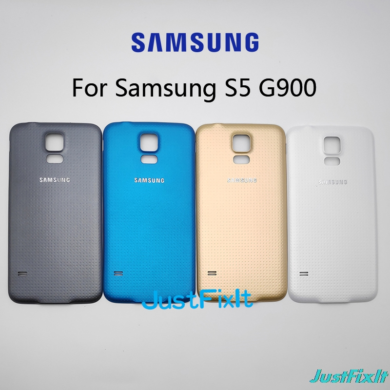 For <font><b>SAMSUNG</b></font> <font><b>Galaxy</b></font> <font><b>S5</b></font> G900 <font><b>G900F</b></font> G900S G9006V Back Battery Cover Door Rear Glass Housing <font><b>Case</b></font> Replace Battery Cover image