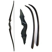 30-60lbs 60 polegada arco recurvo tiro com arco longbow takedown arco laminado arco membro da esquerda/mão direita longbow para caça treinamento de tiro