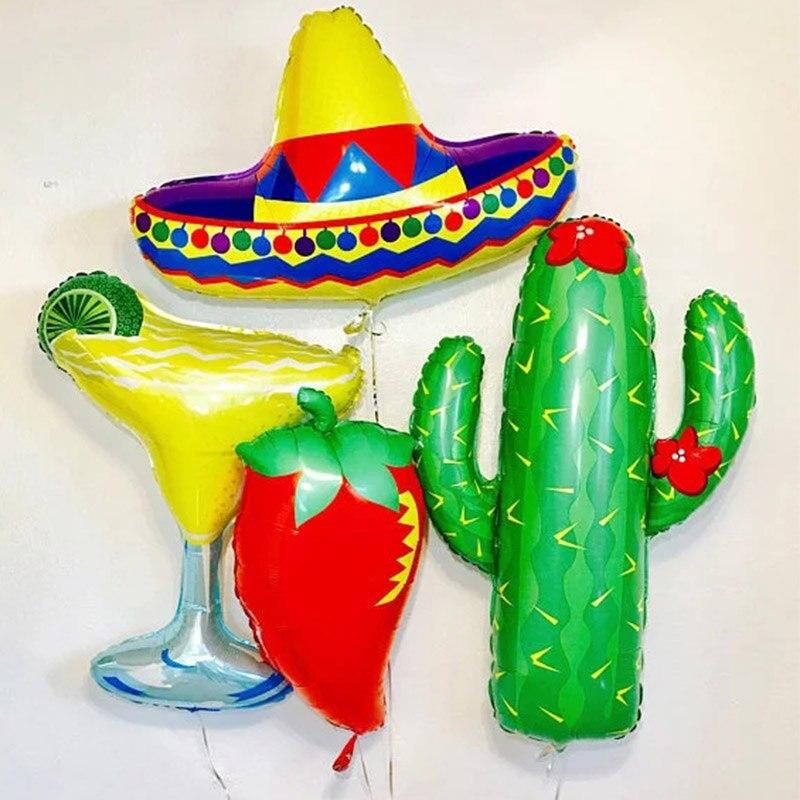 10PCS Cactus latex Balloons Tropical Forest Decoration Summer Plants Party'Decor