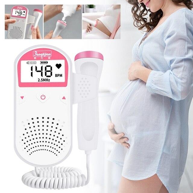Prenatal Fetal Doppler Handheld Baby Heart Rate Detector Sonar Doppler Heartbeat Monitor For Pregnant Women