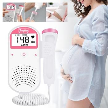 Ręczne urządzenie do badania dopplerowskiego płodu prenatalne dziecko pulsometr gospodarstwa domowego Sonar Doppler Heartbeat Monitor dla kobiet w ciąży tanie i dobre opinie pcmos Q9071102 DC3V 8cm*3cm*12cm Not Include Battery 12 weeks