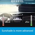Универсальный автомобильный выдвижной козырек от солнца на лобовое стекло для большинства автомобилей  грузовиков  внедорожников  защита ...