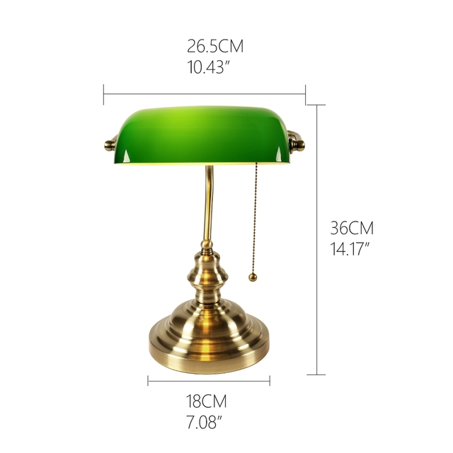 bankers lamp size guide