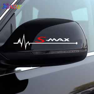 2pcs/lot car rearview mirror sticker for ford smax S-MAX(China)