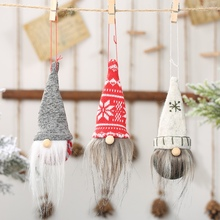 Christmas Tree Hanging Pendant Drop Decorations Miniature Plush Doll Ornaments Festive Decor Home Merry