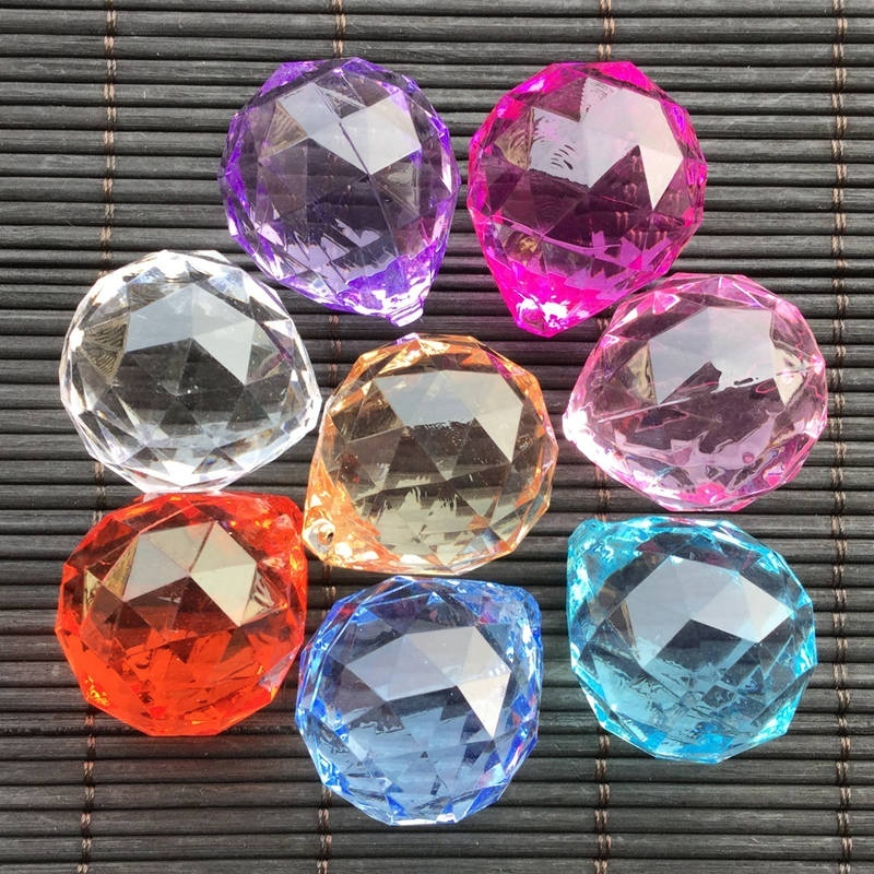 6 Colors High Quality Clear Crystal Feng Shui Lamp Ball DIY Accessories Prism Rainbow Sun Catcher Wedding Decor Eco-friendly