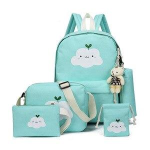 Image 4 - Nouvelle mode en Nylon sac à dos mignon nuage impression cartables école pour adolescents décontracté enfants sac à dos sacs de voyage