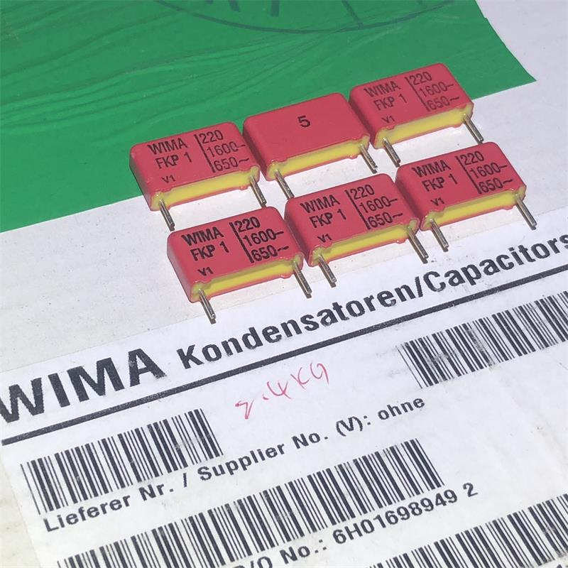 30PCS German original boxes WIMA FKP-1 220PF 1600V film capacitor coupling the audio free shipping image