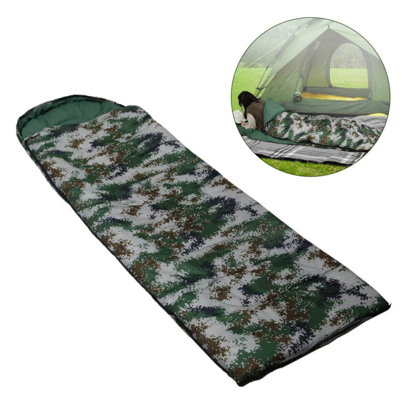 Lightweight 4 Season Warm & Cold Envelope Backpacking Sleeping Bags For Outdoor Traveling Hiking Camouflage Sleeping Bag