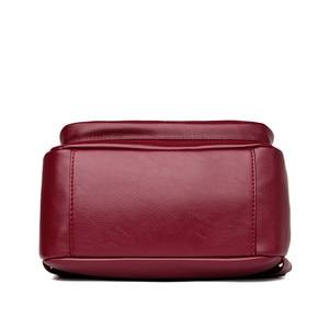 Image 5 - 2019 Bagpack Luxury Women Backpacks School College Bags For Teenager Girls Back Pack Leather Travel Backpack Mochila Feminina