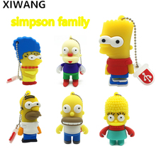 Cartoon USB Flash drive simpson family Bart U disk pen 8gb 16gb pendrive 32gb flash memory stick 64gb Homer Abraham krusty