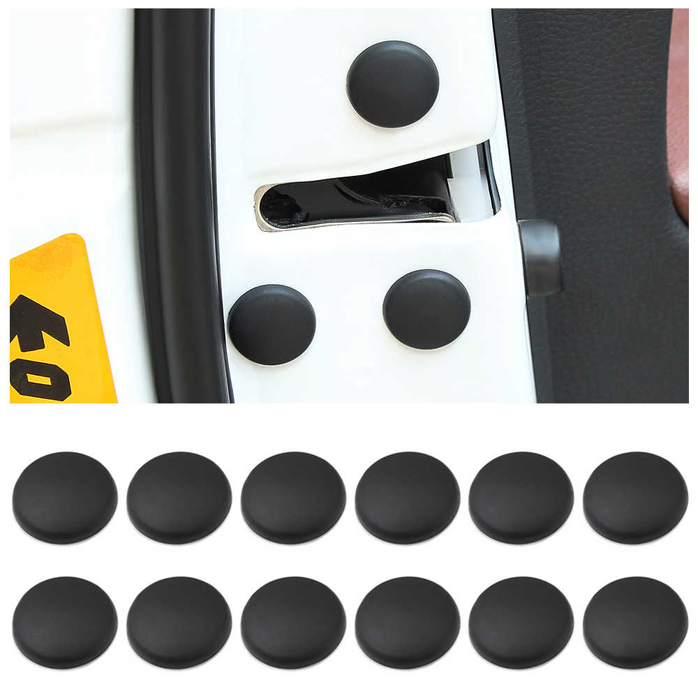 12PCS/Lot Car Door Lock Screw Protector Stickers Cover For volkswagen bmw x5 e70 camry 2018 bmw accessories