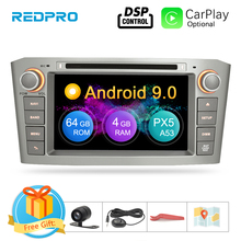7 IPS 4G RAM Android 9.0 รถ DVD นำทาง GPS สำหรับ Toyota Avensis/T25 2003  2008 WIFI FM วิทยุสเตอริโอมัลติมีเดีย