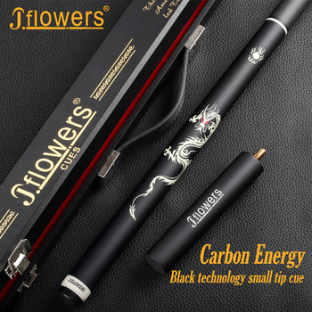 JF J-FLOWERS One Piece Snooker Cue Technology Ebony Professional Carbon Fiber Shaft Billar Stick Kit Carbon Fiber Cues With Case 4 4 carbon fiber bow silver silk braided carbon fiber round stick with ox horn frog natural horsehair well balance