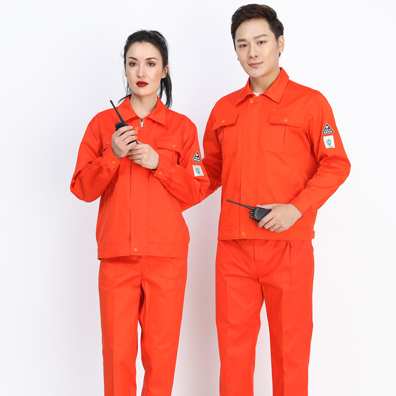 Anti-static Overall Suit Men's Long Sleeve Sinopec Gas Station Work Clothes Blast Electrician Work Clothes Labor Suit
