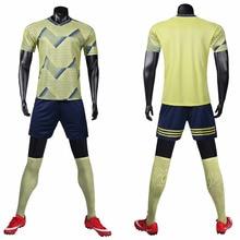 Mens Childrens Football Shirts Set Blank Jersey Sweatshirt Player UniformFace Team Training Suit FootballSe