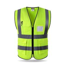 Vest Yellow Orange Blue Green Color Reflective Fluorescent Outdoor Safety Clothing Running Ventilate Safe High Visibility цена