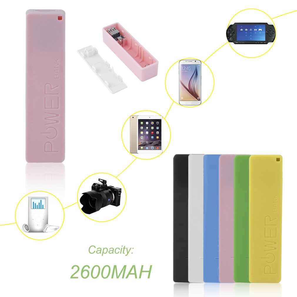 2600mAh נייד גודל אין סוללה Powerbank 1*18650 סוללה חיצוני גיבוי סוללה מטען כוח בנק מקרה חכם טלפון חדש