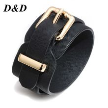 New Style European And American Fashion Women Pu Leather Bracelet Wholesale Multi-Color Adjustable Female a Genera