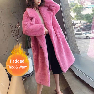 Bella Philosophy Women Winter Faux Fur Warm Long Coat Long Sleeve Female Thick Teddy Bear Coat Casual Loose Oversize Outwears(China)