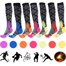 SFIT Running Socks Compression Cycling Socks Nylon Breathable Outdoor Hiking Sports Men Women Football Socks cycling socks 3 pairs lot dh sports dh015 nylon men sports socks basketball outdoor hiking socks