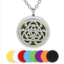 BOFEE Aromatherapy Locket Pendant Necklace Perfume Aroma Diffuser Freshener Stainless Steel Essential Oil Fashion Jewelry Gift цена и фото