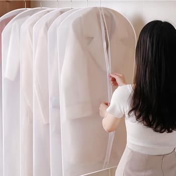 6 sztuk odzież obejmuje garsonka kurtka ubrania płaszcz osłona pyłoszczelna Protector torba podróżna osłona przeciwpyłowa tanie i dobre opinie Clothes Covers Przybywali Stałe Włosy syntetyczne Nowoczesne 6pcs Transparent Non-woven fabric
