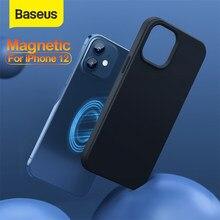 Baseus Magnetische Fall für iPhone 12 Magnetische Volle Abdeckung Telefon Fall Zurück Abdeckung für iPhone 12 Mini Pro Pro Max silica Gel