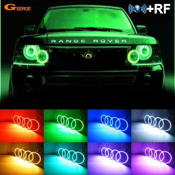 Excellent RF remote Bluetooth APP Multi-Color RGB led angel eyes kit For Land Rover RANGE ROVER Sport 2005-2009 Xenon Headlight
