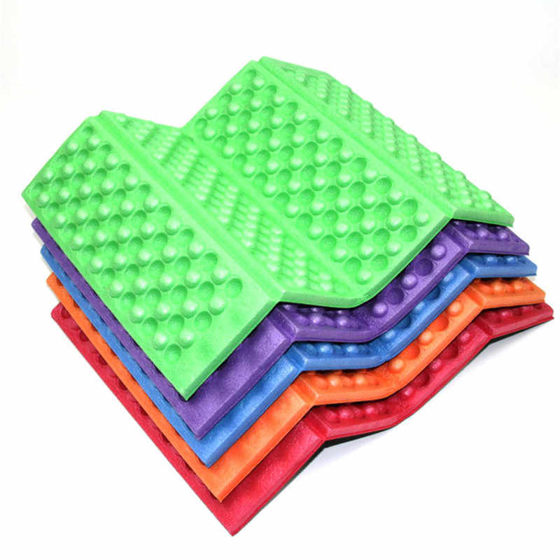 2pc Foldable Folding Outdoor Camping Mat Seat Foam Portable Waterproof XPE Dots Chair Picnic Mat Pad 27*39*0.9cm