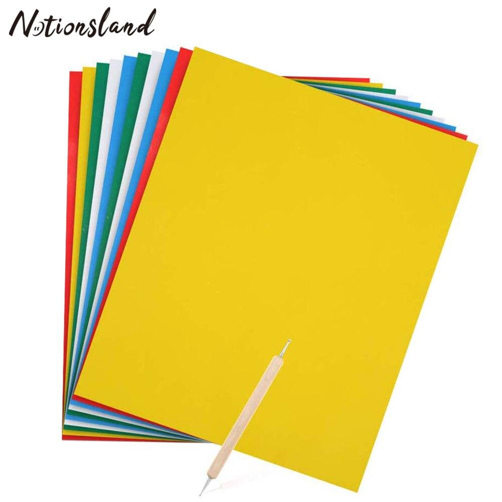 10 Uds. De papel de transferencia de patrones de bordado con estampado, papel de calco Soluble en agua, dibujo de punto de cruz para costura en el hogar