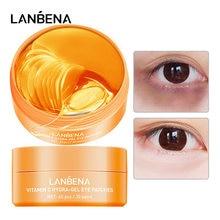 LANBENA-Parche de colágeno para el cuidado de la piel, Gel de ácido hialurónico, Retinol hidratante, antienvejecimiento, elimina las ojeras, bolsa para ojos