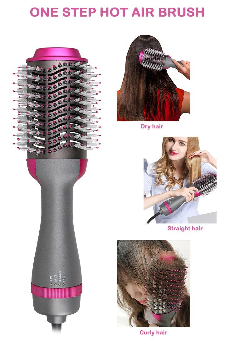de ar quente íons negativos ventilador de cabelo escova