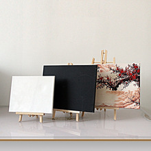 Natural Wood Painting Frame Canvas Shelf Natural Wood Display Easel Oil Painting Frame Shelf Artist Tripod Tabletop Holder Stand