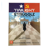 Twilight Struggle Super Clear Cards The Cold War Desktop Board Games Cards Family Interactive Toy