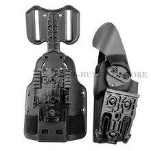 Adaptador tático do cabo flexível da gota com conjunto da mortalha do pé qls 19 e qls 22 polímero para o coldre da arma do pé