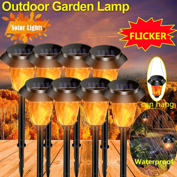 Garden Lights Solar Lawn Light Outdoor Lighting Flickering Flame Torch Lights Yard Patio Outdoor Decoration Solar Garden Lights image
